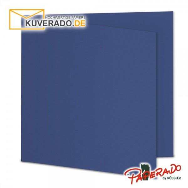 Paperado Karten in jeans blau quadratisch