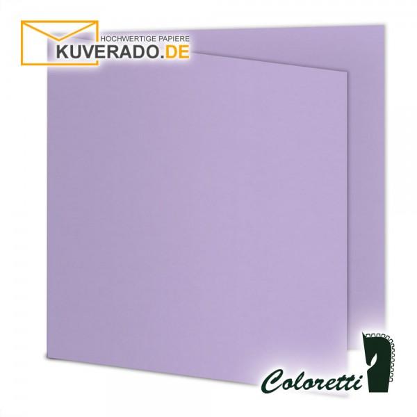 Lila Doppelkarten in lavendel quadratisch 220 g/qm von Coloretti
