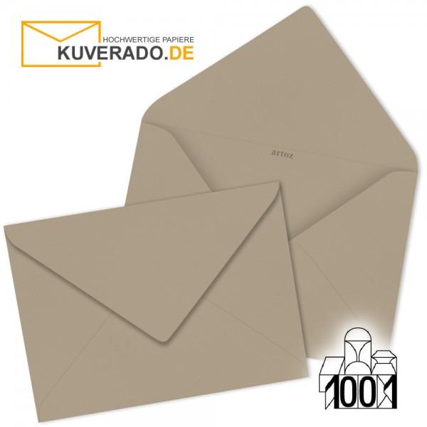 Artoz Briefumschläge taupe-grau 75x110 mm
