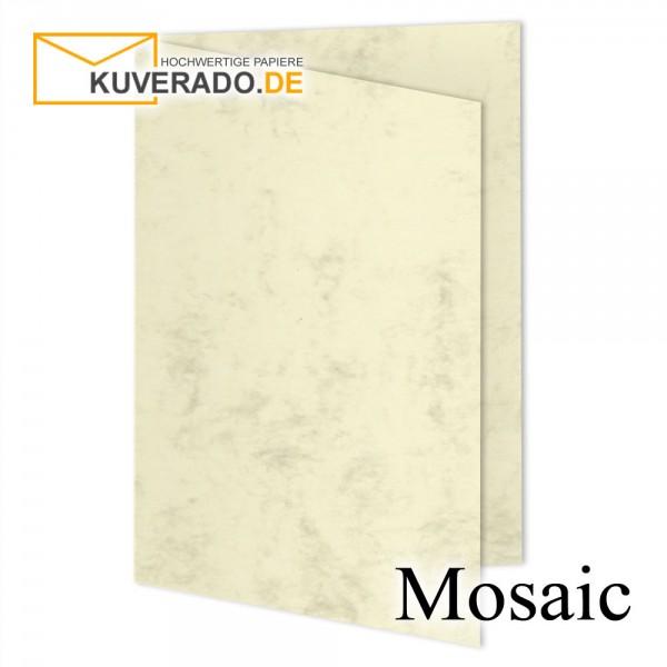Artoz Mosaic marmorierte Faltkarten in gelb DIN B6
