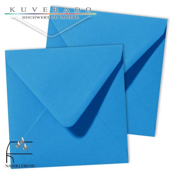 blaue Briefumschläge im Format quadratisch 140x140 mm