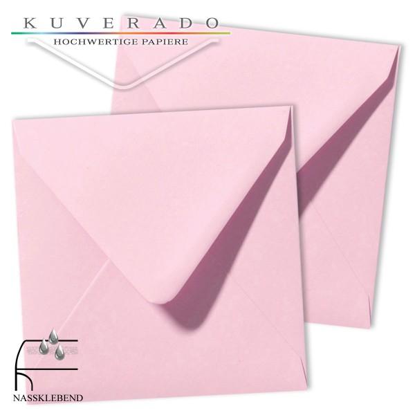 Rosa Briefumschläge (hellrosa) im Format quadratisch 140x140 mm
