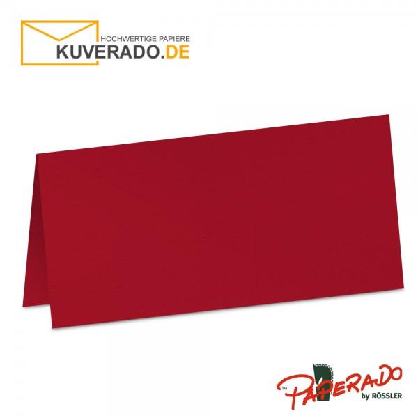 Paperado Tischkarten in rot