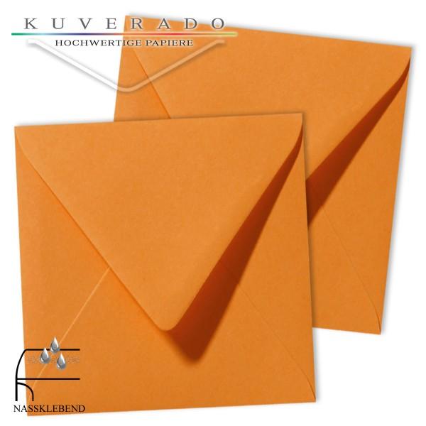 orange Briefumschläge im Format quadratisch 140x140 mm