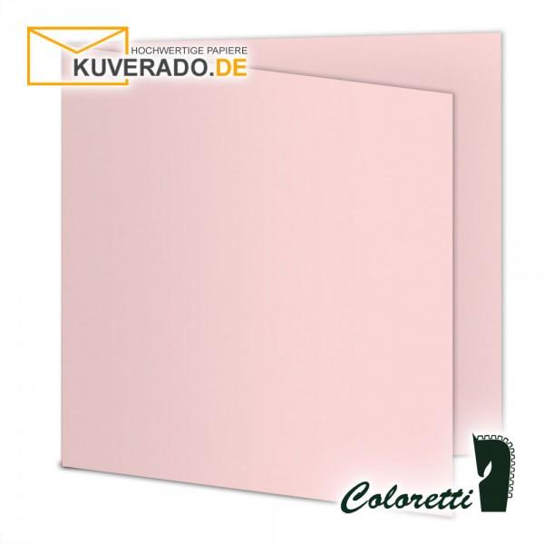 Rosa Doppelkarten in quadratisch 220 g/qm von Coloretti