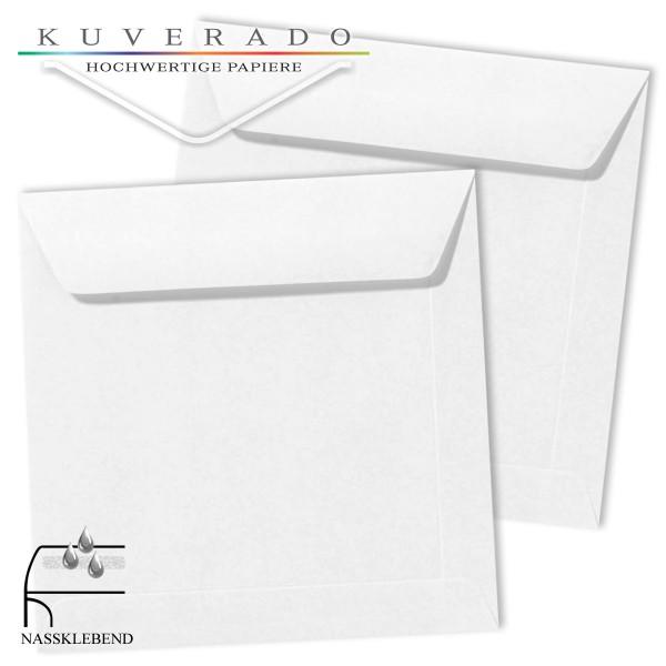 weiße Briefumschläge im Format quadratisch 190x190 mm