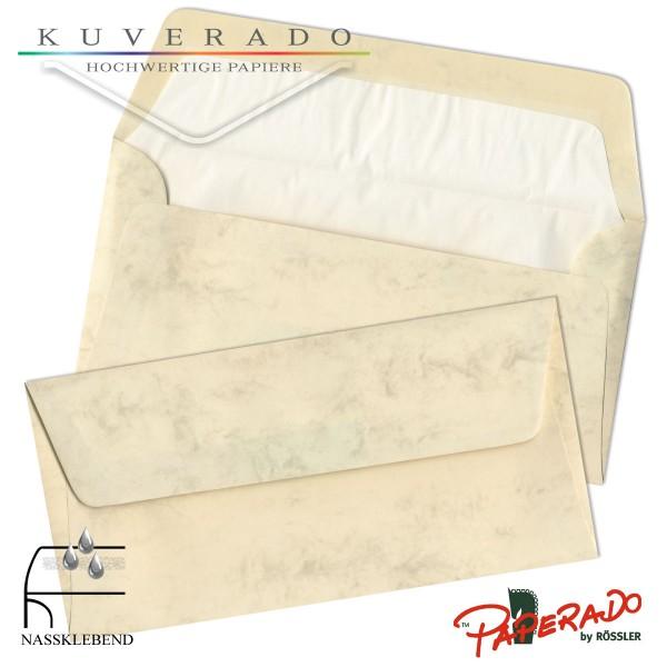 Paperado marmorierte Briefumschläge in chamois DIN lang