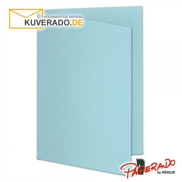 Paperado Karten in aqua blau DIN A5