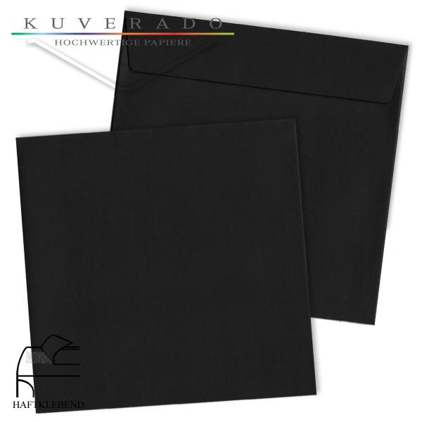 schwarze Briefumschläge quadratisch