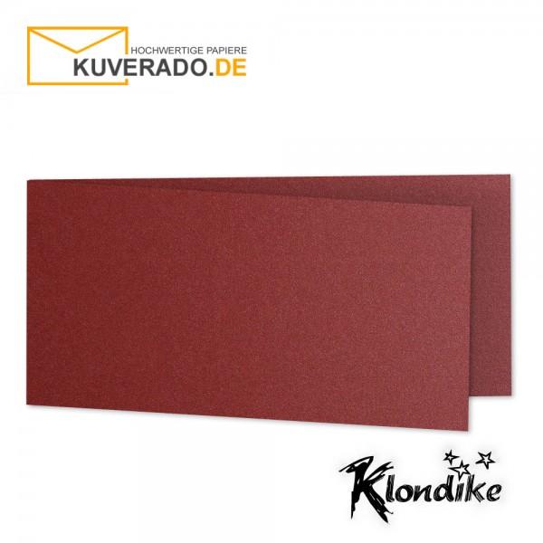 Artoz Klondike Karten in rubin-rot-metallic DIN lang