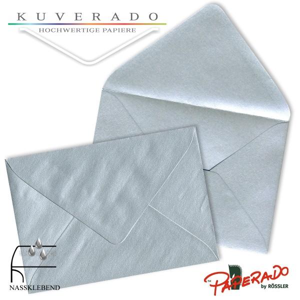 Paperado Briefumschläge in silber 157x225 mm