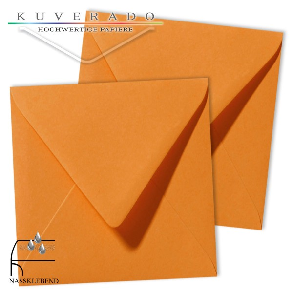 orange Briefumschläge im Format quadratisch 120x120 mm