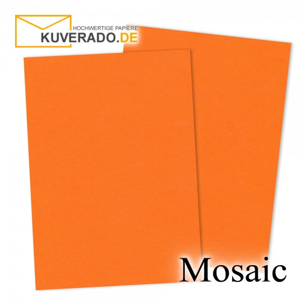 Artoz Mosaic neon-orange Karten DIN A7