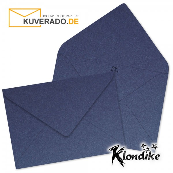 Artoz Klondike Briefumschlag in saphir-blau-metallic DIN B6