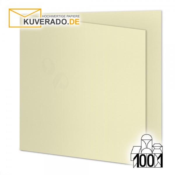 Artoz 1001 Faltkarten chamois beige quadratisch 155x155 mm mit Wasserzeichen