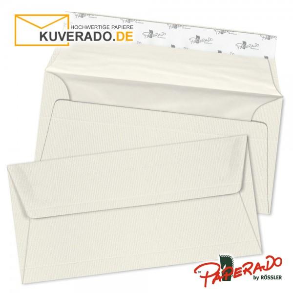 Paperado - ivory beige farbene Briefumschläge in DIN lang