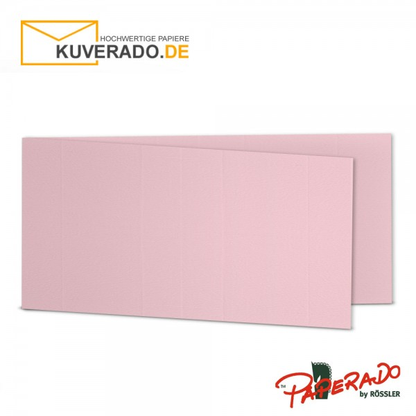 Paperado Karten in flamingo rosa DIN lang Querformat