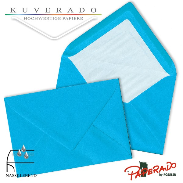 Paperado Briefumschläge in pacific blau DIN C7