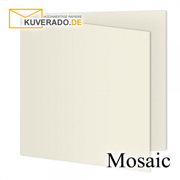 Artoz Mosaic ivory Doppelkarten quadratisch