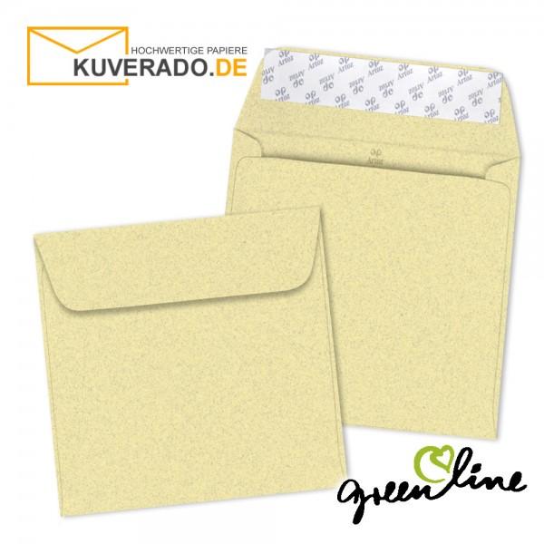 ARTOZ Greenline pastell | Recycling Briefumschläge in misty-yellow quadratisch