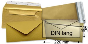 110x220 mm (DIN lang)   gold