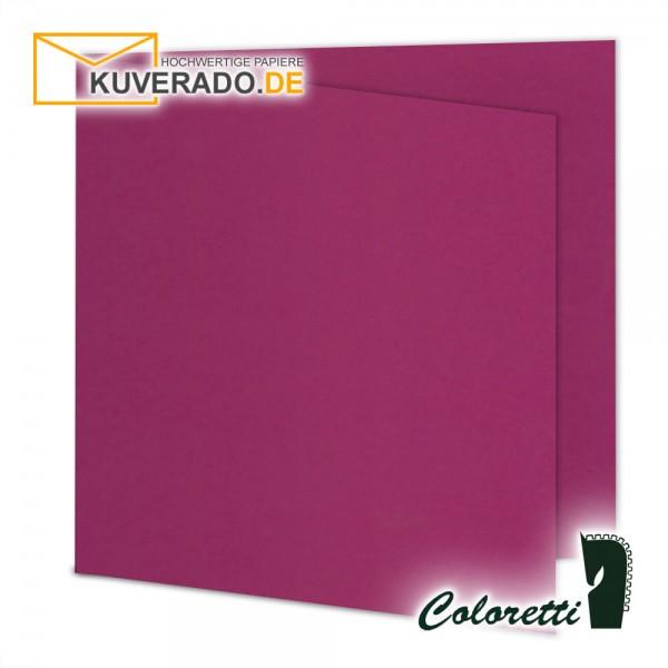Lila Doppelkarten in amarena quadratisch 220 g/qm von Coloretti