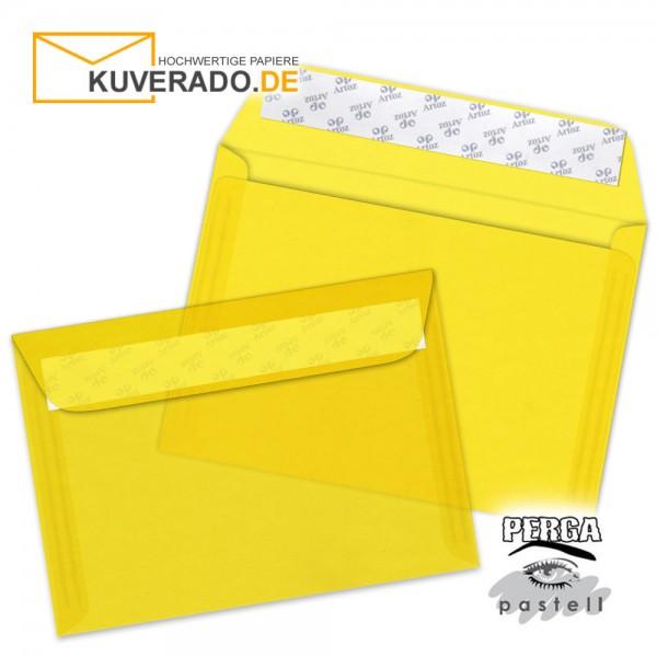 Artoz transparente Briefumschläge sonnengelb DIN B6