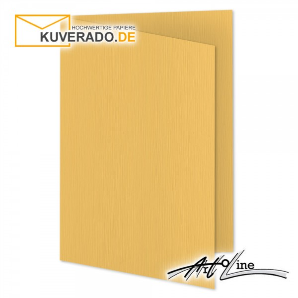 Artoz Artoline Karten/Doppelkarten in sandgold-orange DIN A6