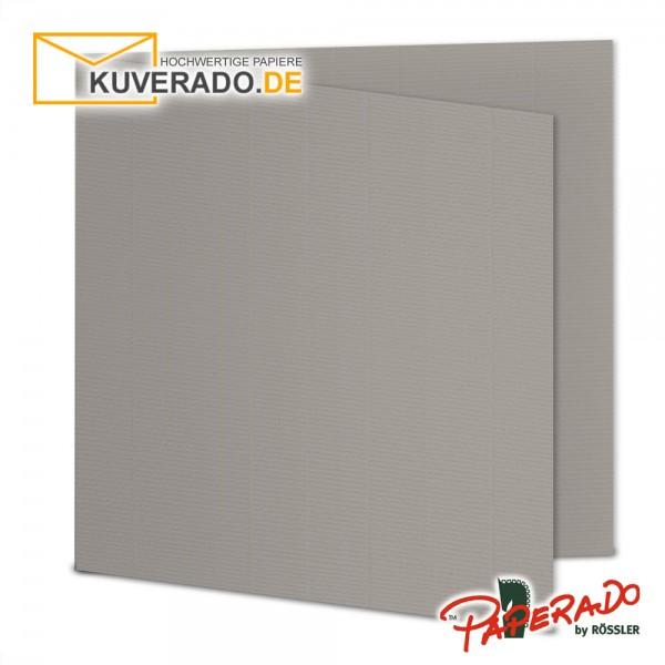 Paperado Karten in taupe grau quadratisch