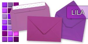 Lila Briefumschlag Kuvert Briefkuvert Umschlag Briefumschläge DIN-C6