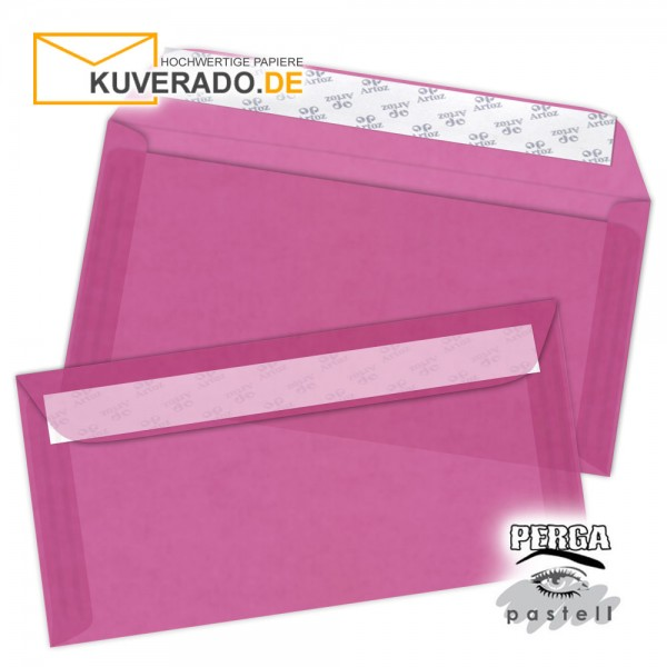 Artoz transparente Briefumschläge pink 114x224 mm