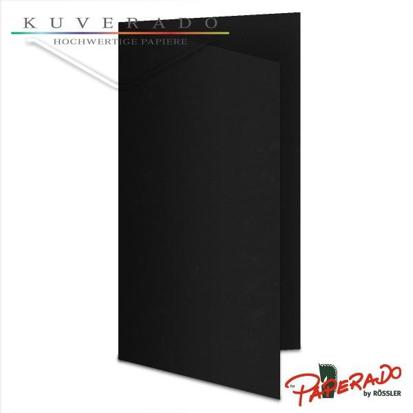 Paperado Karten in schwarz DIN lang