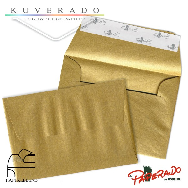 Paperado farbige Briefumschläge in gold DIN C6