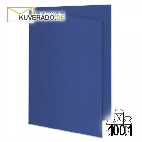 Artoz 1001 Faltkarten royalblau -beige DIN A6 mit Wasserzeichen