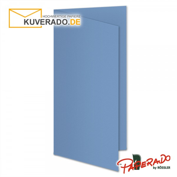 Paperado Karten in blau DIN lang