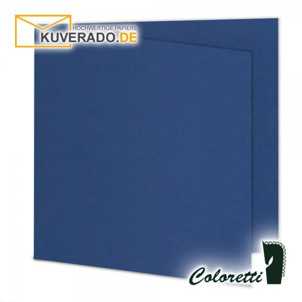 Jeansblaue Doppelkarten in quadratisch 220 g/qm von Coloretti