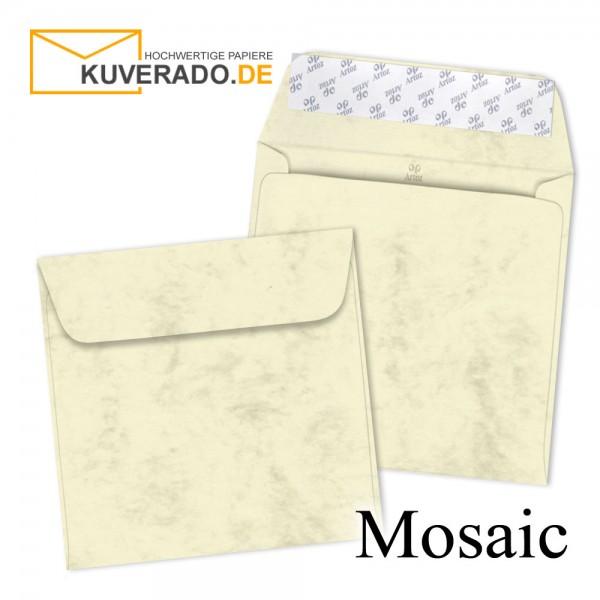 Artoz Mosaic marmorierte Briefumschläge in gelb quadratisch
