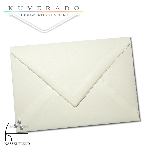 Briefumschläge aus Büttenpapier im Format DIN C6