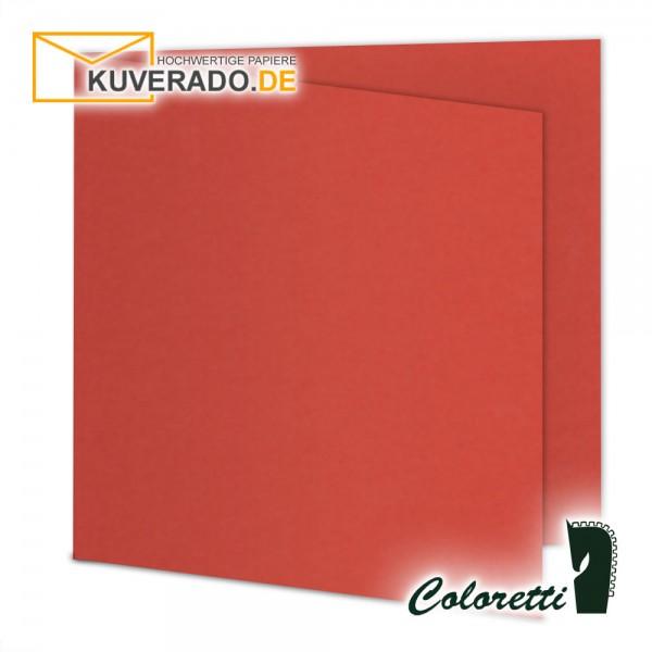 Rote Doppelkarten in klatschmohn quadratisch 220 g/qm von Coloretti