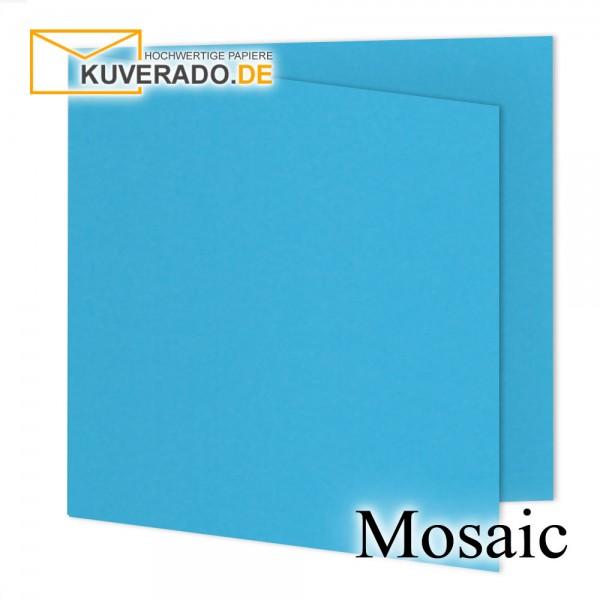 Artoz Mosaic blaue Doppelkarten quadratisch