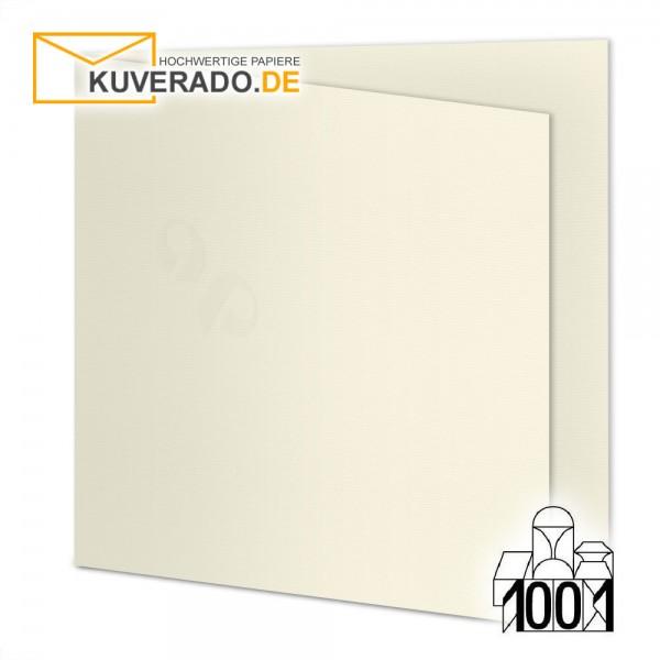 Artoz 1001 Faltkarten ivory beige quadratisch 13x13 cm mit Wasserzeichen