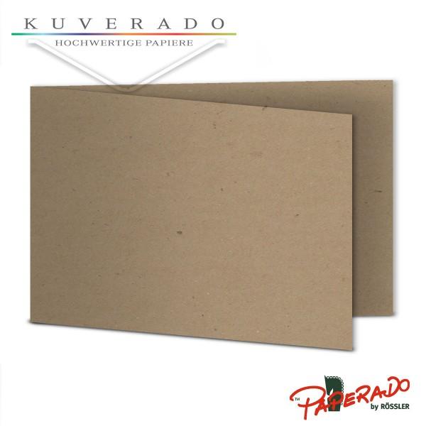 Paperado Karten aus braunem Kraftpapier DIN B6 Querformat