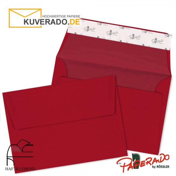 Paperado Briefumschläge rot DIN C6