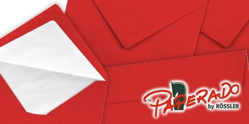 tomatenrote Briefumschläge von Rössler Papier - Paperado