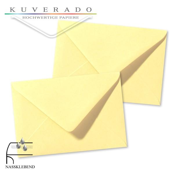 gelbe Briefumschläge im Format 120 x 180 mm