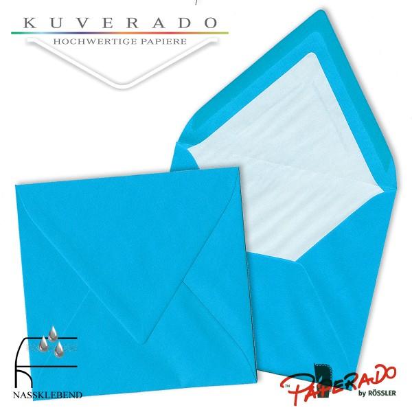 Paperado quadratische Briefumschläge in pacificblau 164x164 mm