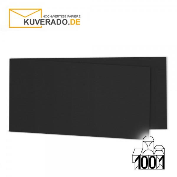 Artoz 1001 Faltkarten schwarz DIN lang Querformat mit Wasserzeichen