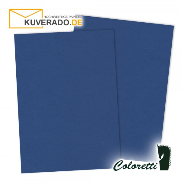 Blaues Briefpapier in jeans 80 g/qm von Coloretti