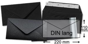110x220 mm (DIN lang)   schwarz