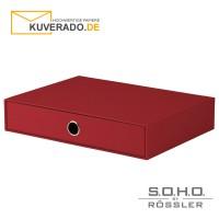 """S.O.H.O. Schubladenbox für DIN A4 in der Farbe """"rot"""""""